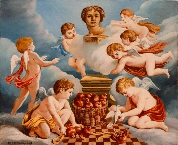 Cherubs with Goddess Anahit 2012 by Rubik Kocharian