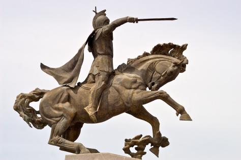Vardan Mamikonian statue in Gyumri
