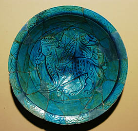 Dish with an image of a winged Sphinx 11th-12th cc., Dvin
