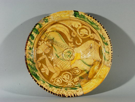 Glazed dish from Dvin 11th-12th c