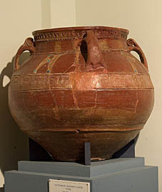 Karas, red-polished with ornamented bands10th-11th cc., Dvin, clay