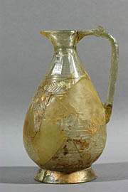 Small pitcher, engraved, with one handle, dvin 9th - 11th cc.
