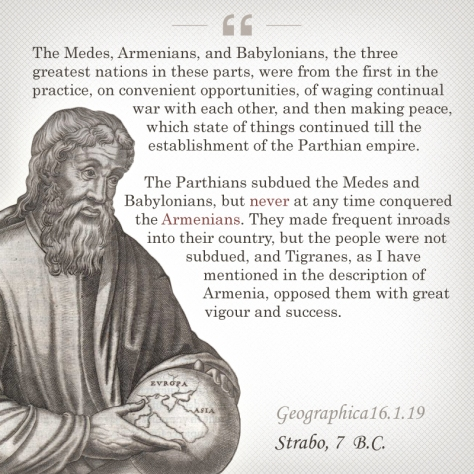 Strabo about Armenians
