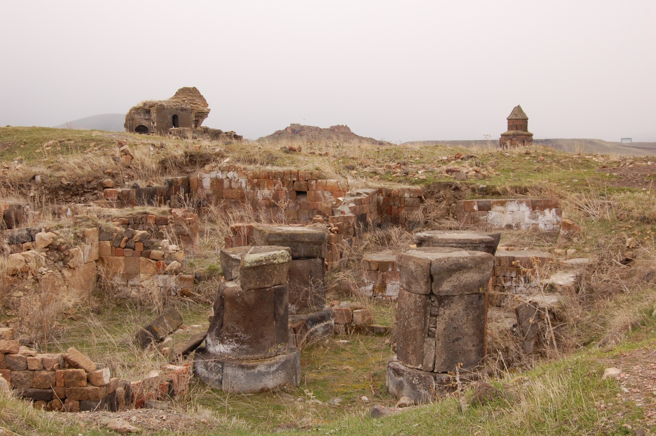 Ruins of ancient Armenian city Ani