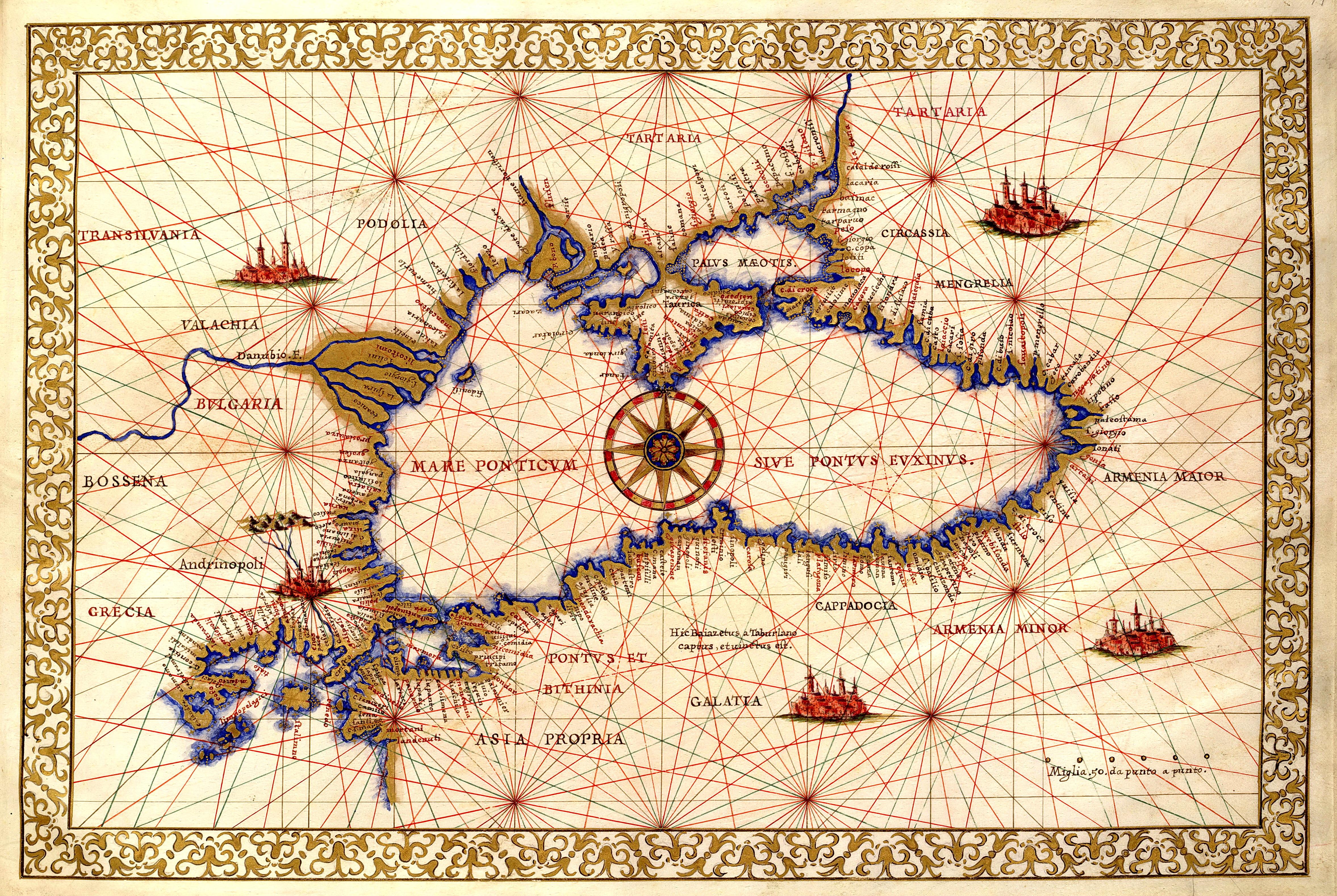 Old Maritime maps of the Black Sea region PeopleOfAr
