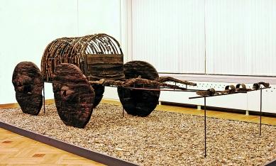 World's oldest wagons Lchashen Armenia lake Sevan